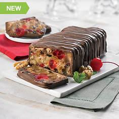 Chocolate Covered Grandma's Fruitcake Loaf