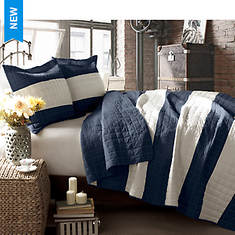 Two-Tone Stripe Quilt Set