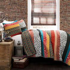 Lush Décor - Boho Stripe 3-Piece Quilt Set