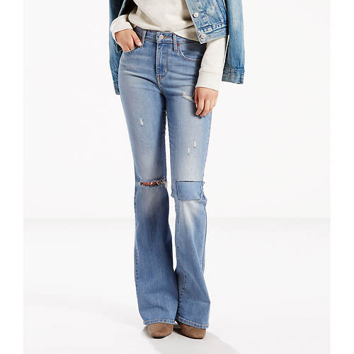 Levi's-Misses Hi Rise Flare Jeans