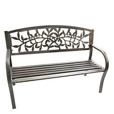 Steel Park Bench - Vine
