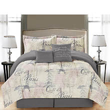 Paris 6-Piece Bed-in-a-Bag Set