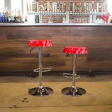 AmeriHome 2-Piece Retro Soda Cap Bar Stool