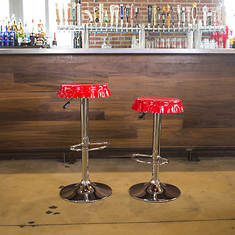 AmeriHome 2-Piece Retro Soda Cap Bar Stool