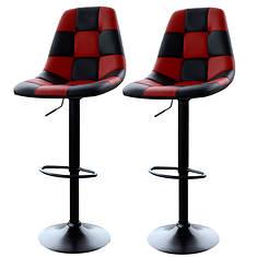 AmeriHome Checkered Racing Bar Chairs