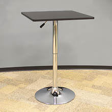 AmeriHome Wood Top Square Bistro Table