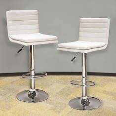AmeriHome Modern Ripple Back Bar Stool