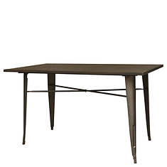AmeriHome Loft Rustic Wood Top Table