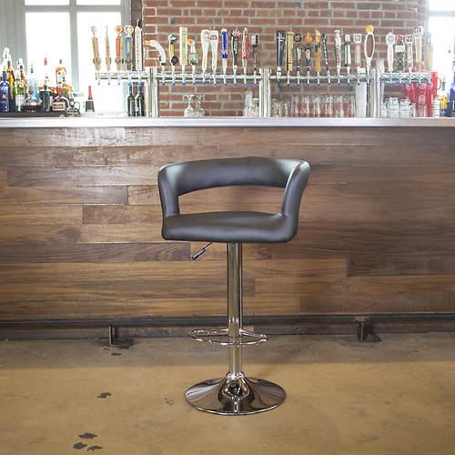 AmeriHome Modern Curvy Bar Stool