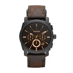 Fossil Machine Leather Strap Watch