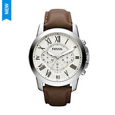 Fossil Grant Leather Strap Watch