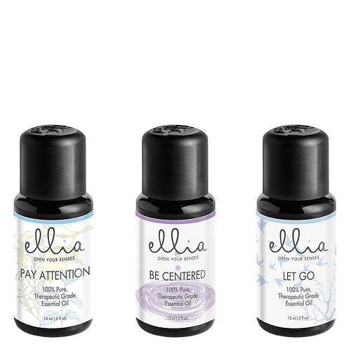 16bf3e12b Ellia by Homedics Calm and Concentration: Essential Oil 3-Pack   Stoneberry