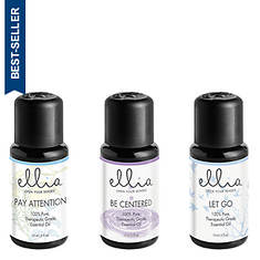 Ellia by Homedics Calm and Concentration: Essential Oil 3-Pack