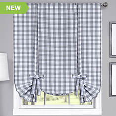 Buffalo Check Tie-Up Shade-Grey