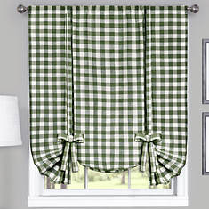 Buffalo Check Tie-Up Shade-Sage