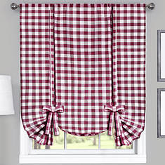 Buffalo Check Tie-Up Shade-Red