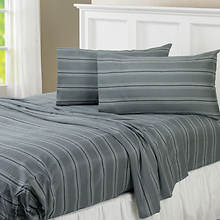 Regent Stripe 300-Thread Count Sheet Set-Charcoal
