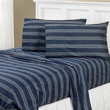 Regent Stripe 300-Thread Count Sheet Set-Navy