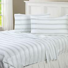 Regent Stripe 300-Thread Count Sheet Set-Aqua