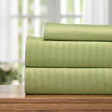 Embossed Stripe Microfiber Sheet Set-Sage