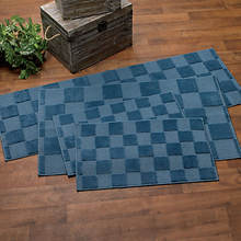 Square 4-Pc. Rug Set-Blue