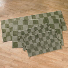 Square 4-Pc. Rug Set-Green