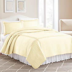 Ruffled Square Quilt Set-Antique