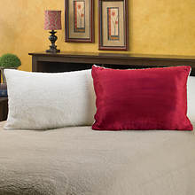Snuggle® Sherpa Pillows-Set of 2-Burgundy