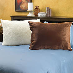 Snuggle® Sherpa Pillows-Set of 2-Brown