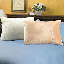 Snuggle® Sherpa Pillows-Set of 2-Beige