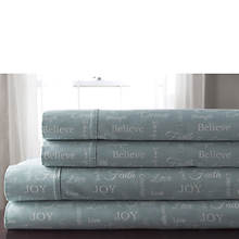 Inspirational Microfiber Sheet Set