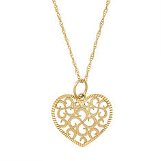 Swiss Cut Heart Necklace