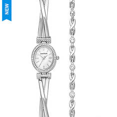 Armitron Swarovski Crystal Watch/Bracelet Set