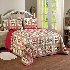 Allspice Quilted Bedspread Set