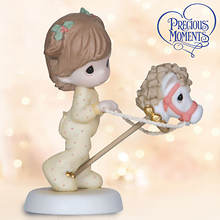 Precious Moments® Girl with Hobby Horse Figurine