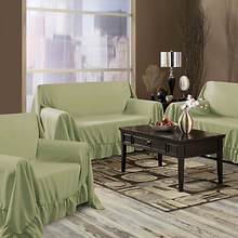 Venice 3-Pc. Furniture Throw-Sage