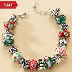 Christmas Beaded Bracelet