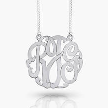 Monogram Necklace-Silver