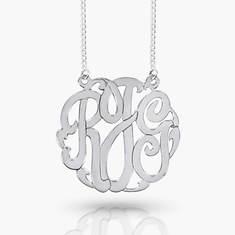 Monogram Necklace-Silver