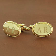 Personalized Cuff Links-Yellow Gold