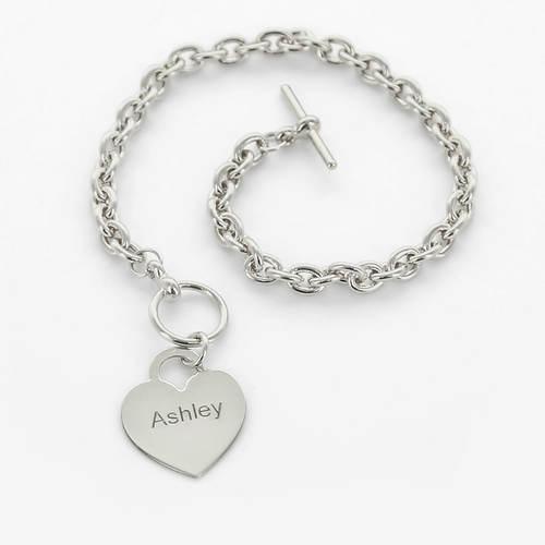 Personalized Heart Bracelet