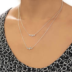 Personalized Sterling Silver Double Layer Necklace-2 Names