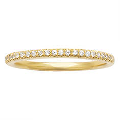 Sterling Silver or Gold-Plated Silver Diamond Band