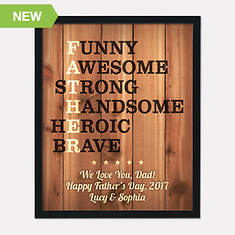 Personalized Father's Framed Canvas