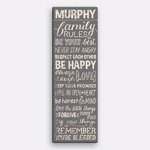 Personalized Family Rules Canvas
