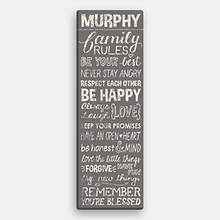 Personalized Family Rules Canvas-Taupe