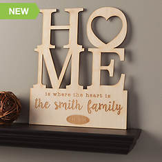 Home Personalized Wood Plaque