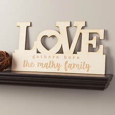 Love Personalized Wood Plaque