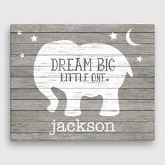 Personalized Dream Big Little One Canvas