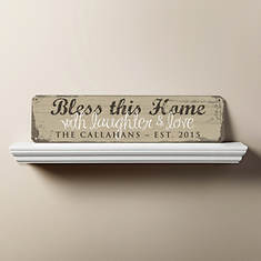 Personalized Bless This Home Sign-Camel